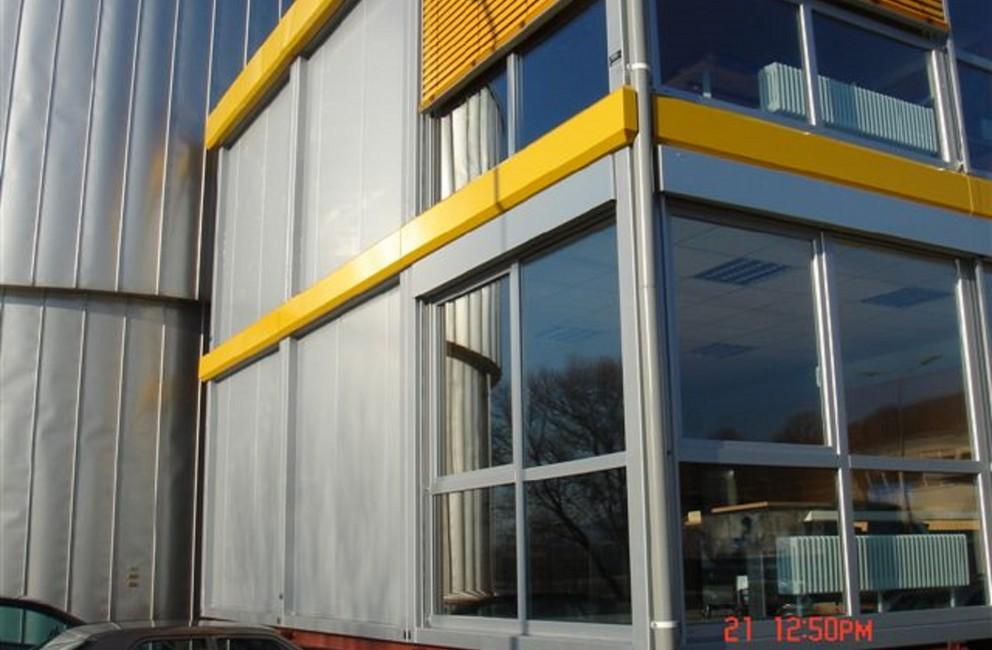 Containers siden b timent de bureau multigone for Batiment container